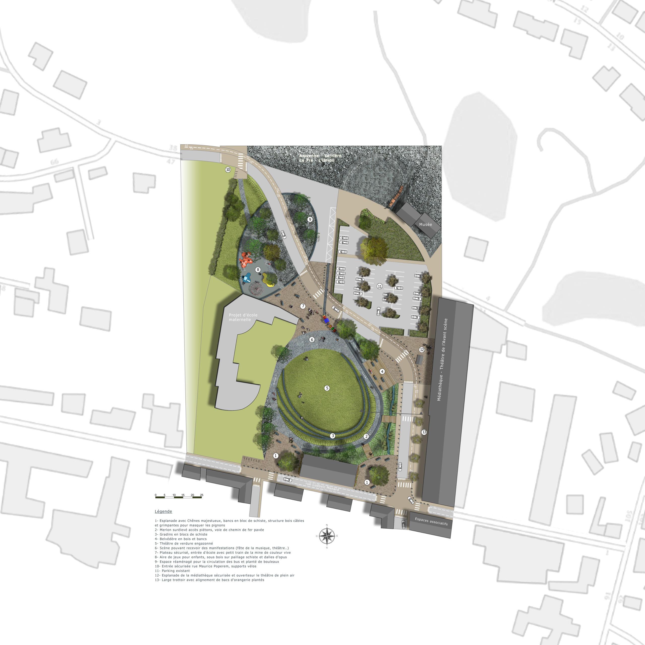 Maraîchere Trélazé-Plan masse-idspace
