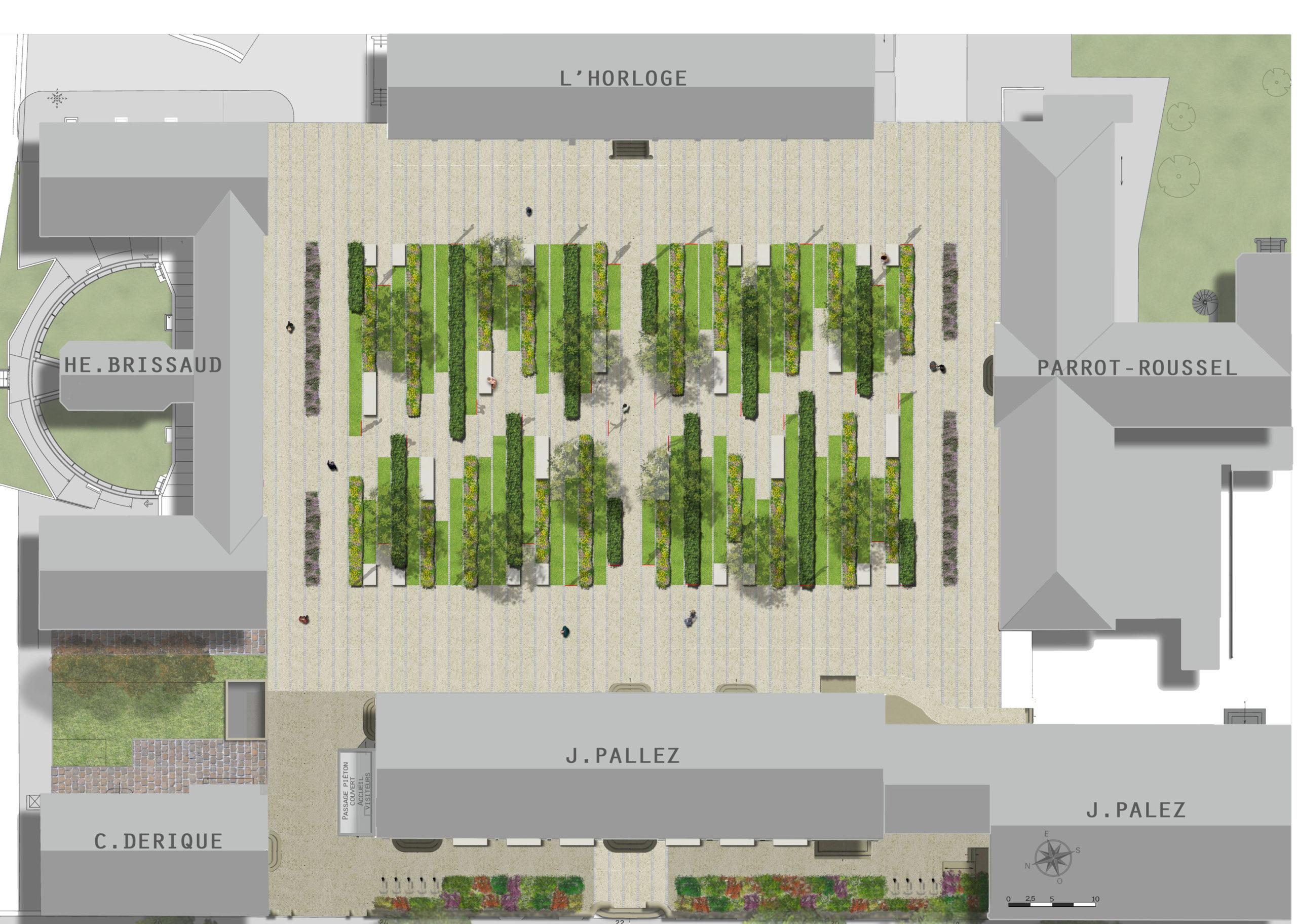 plan masse-Jardin des portraits-idspace