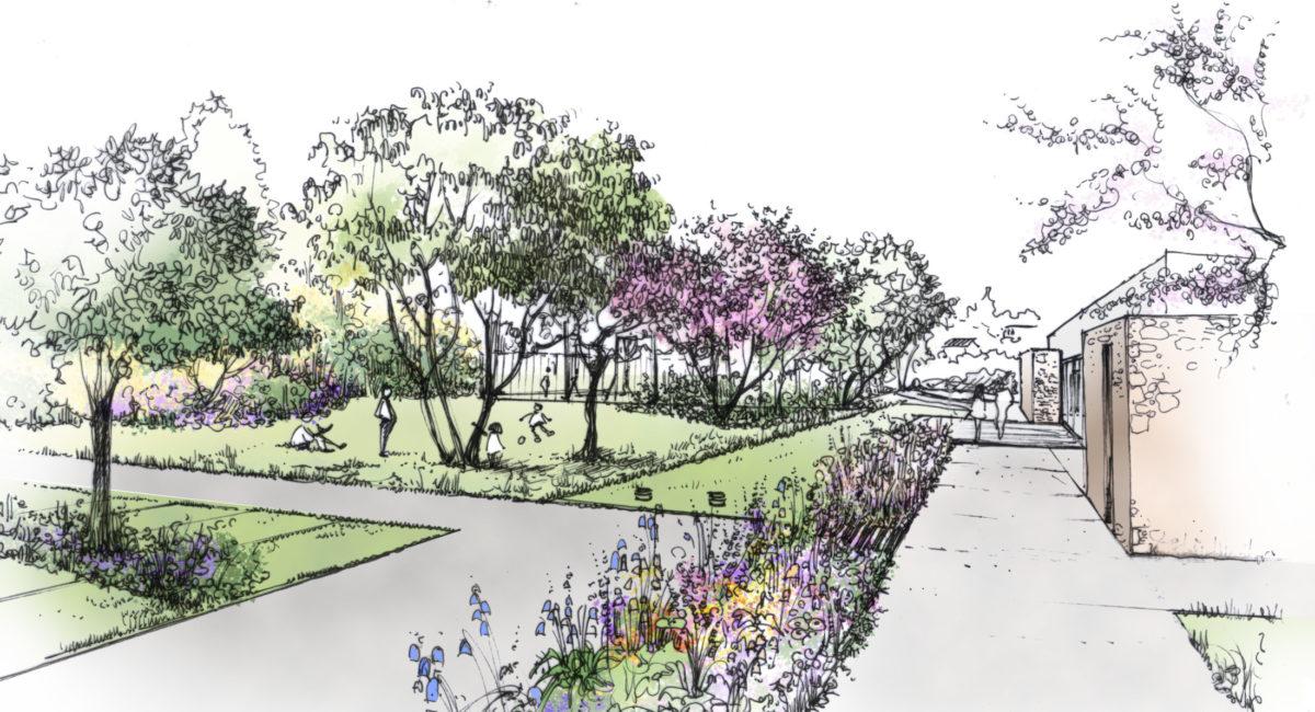 espace public-pole culturel-aménagement paysager-urbain