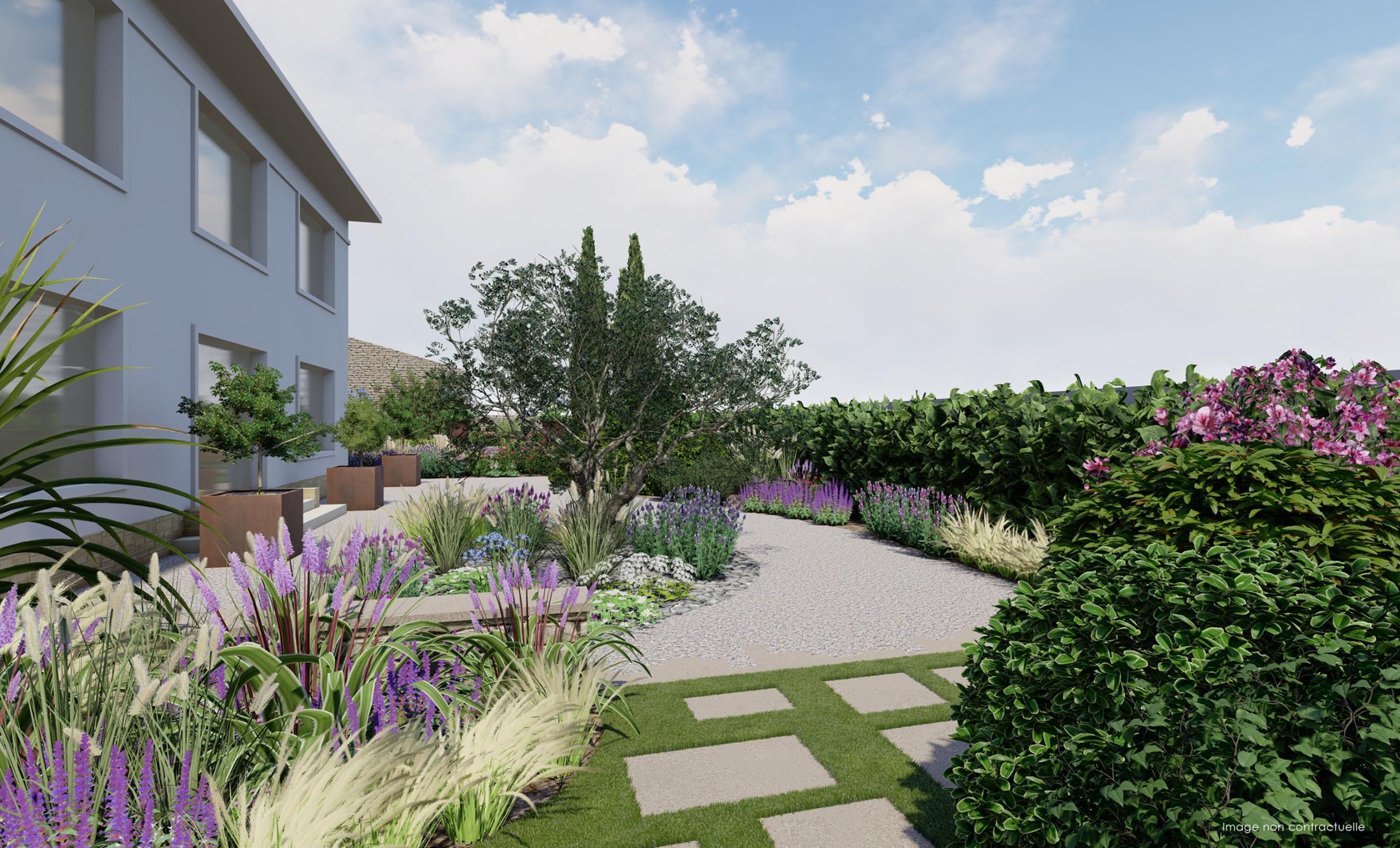 infographie paysagiste jardin